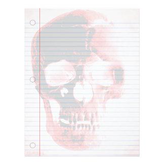 Vampire Skull Goth Notebook Paper