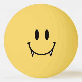 Vampire Smiley Ping Pong Ball
