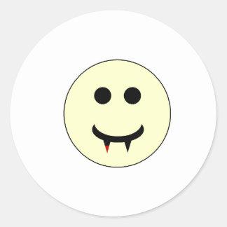 Vampire Smiley Stickers