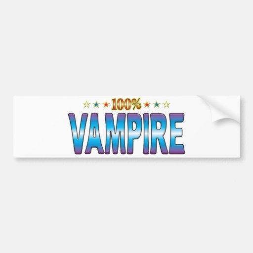 Vampire Star Tag v2 Bumper Sticker