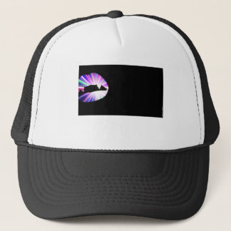 Vampire Teeth Lightshow Silhouette Trucker Hat