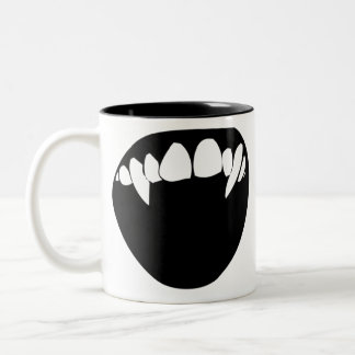 Vampire Teeth Two-Tone Coffee Mug