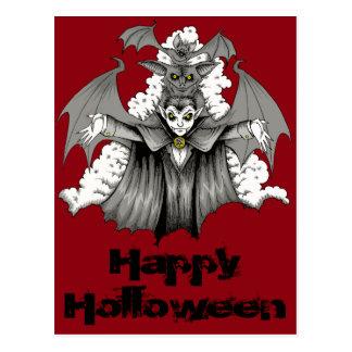 Vampire Transformation Postcard