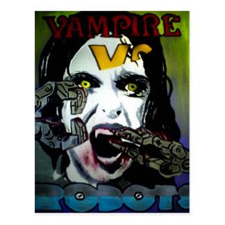 'Vampire vs Robots' Postcard