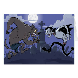 Vampire Vs Werewolf Card