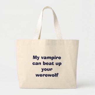 vampire vs. werewolfs large tote bag