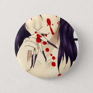 Vampire with blood 2 inch round button