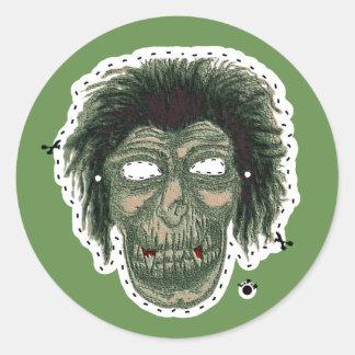Vampire Zombie - Cutout Mask Classic Round Sticker