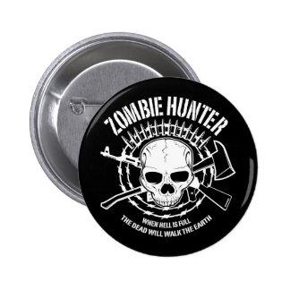 vampires de chasseur de zombi vivant complètement pin's avec agrafe
