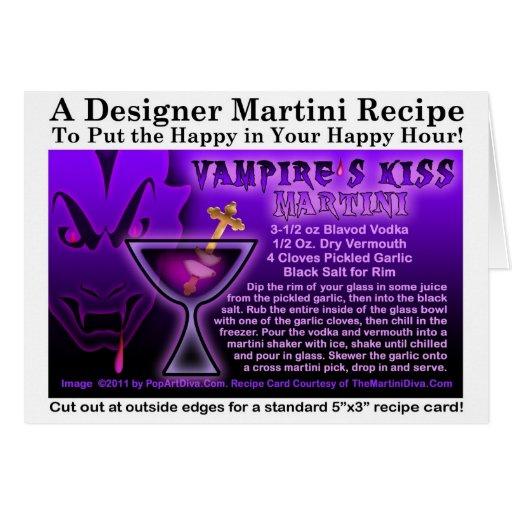 Vampire's Kiss Martini Recipe Card