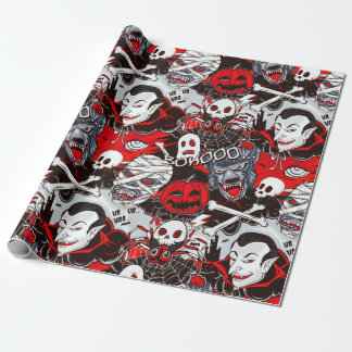 """Vampires Night Matte Wrapping Paper, 30"""" x 6'"""