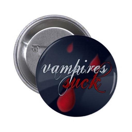 """""""Vampires Suck"""" pin/badge 2 Inch Round Button"""