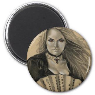 Vampiress Dia de los Muertos Magnet