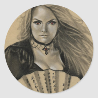 Vampiress Dia de los Muertos Sticker