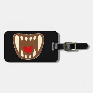 Vampirgebiss vampire fangs bag tag