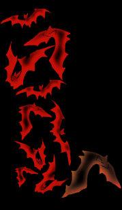 0f8539bafcc3 Vamplife Ghostly Bats - Blood Red Socks