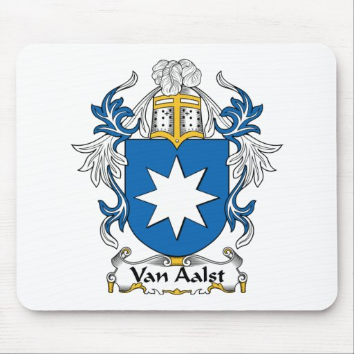 Van Aalst Family Crest Mouse Pads