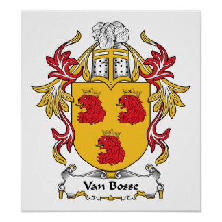 Van Bosse Family Crest Poster