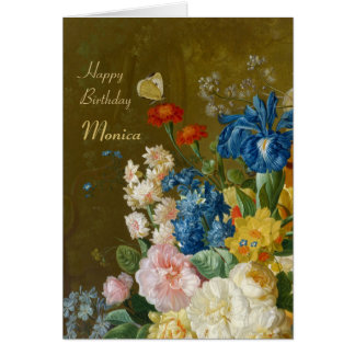 Van Brussel Flowers in a vase 1789 CC0259 Birthday Card