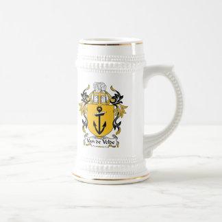 Van de Velde Family Crest Beer Stein