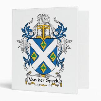 Van der Speck Family Crest Binders