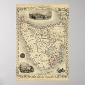 Van Diemen's Island or Tasmania Poster