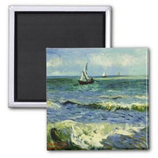 Van Gogh - A Fishing Boat at Sea Magnet