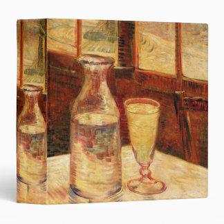 Van Gogh Absinthe Vintage Impressionism Still Life 3 Ring Binder