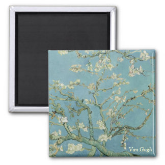 Van Gogh Almond blossom Square Magnet