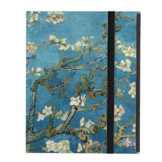 Van Gogh Almond Blossoms Vintage Floral Blue iPad Folio Case