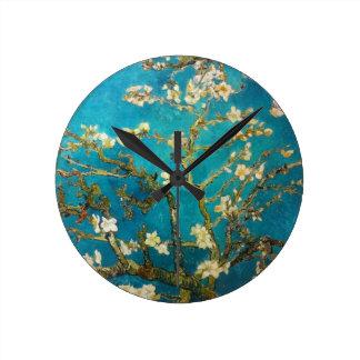 Van Gogh Almond Tree Round Clock