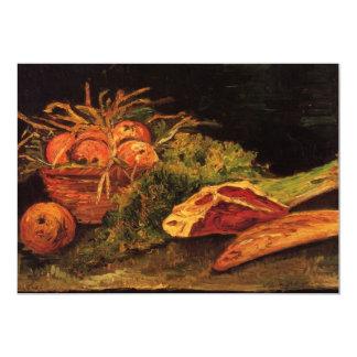 Van Gogh Apples Meat Roll Vintage Still Life Art Card
