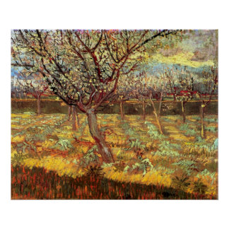 Van Gogh Apricot Tree in Blossom, Vintage Fine Art Poster