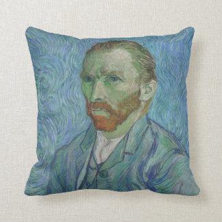 Van Gogh art cushion, self portrait Throw Pillow