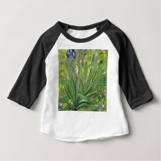 Van Gogh art  Irises, acrylic reproduction Baby T-Shirt