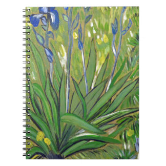 Van Gogh art  Irises, acrylic reproduction Notebook