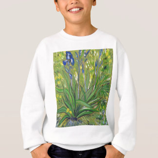 Van Gogh art  Irises, acrylic reproduction Sweatshirt