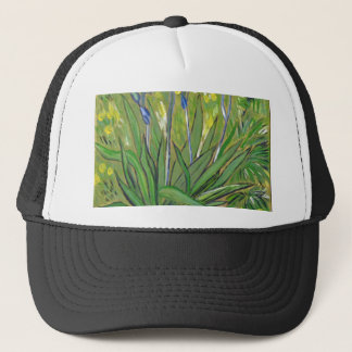 Van Gogh art  Irises, acrylic reproduction Trucker Hat