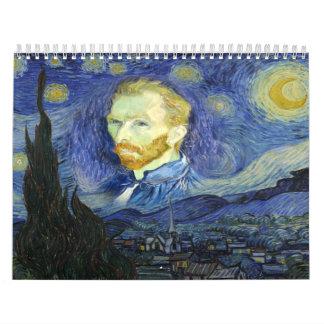 Van gogh art wall calendars