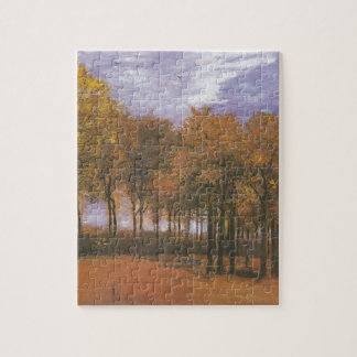 Van Gogh Autumn Fall Tree Leaves Destiny Jigsaw Puzzle