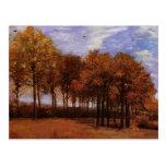 Van Gogh; Autumn Landscape, Vintage Impressionism Post Card