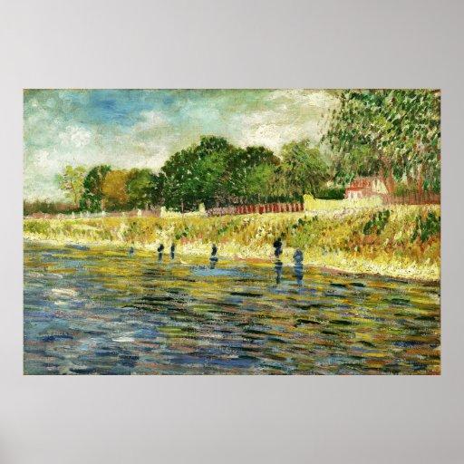 Van Gogh Banks of the Seine (F293) Fine Art Poster