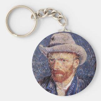 Van Gogh Basic Round Button Keychain