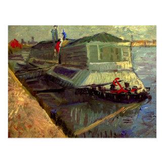 Van Gogh Bathing Float on the Seine at Asniere Postcard