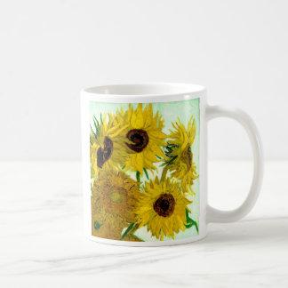 Van Gogh : Beaux-arts de cru de tournesols du vase Tasse À Café