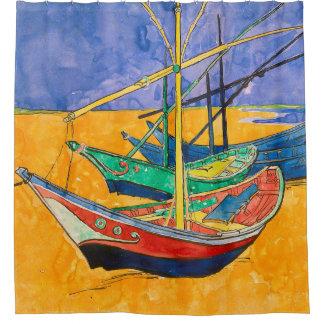 Van Gogh Boats Colorful