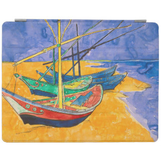 Van Gogh Boats on the Beach of Saintes-Maries iPad Cover