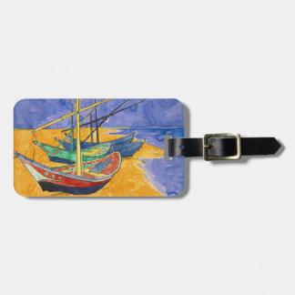 Van Gogh Boats on the Beach of Saintes-Maries Luggage Tag