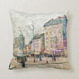 Van Gogh: Boulevard de Clichy Throw Pillow