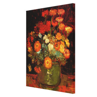 Van Gogh - Bowl with Zinnias Canvas Print
